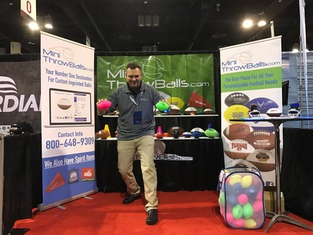 Craig in the MiniThrowballs booth