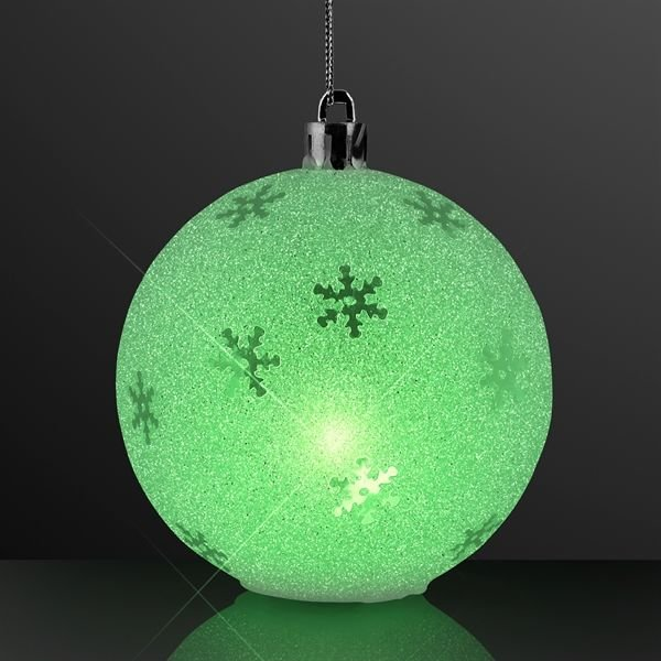 "Main Product Image for 3.25"" LED Sparkle Snowflake Ornaments, Christmas Decorations"