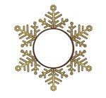 Express Snowflake Holiday Ornament - Bright Gold
