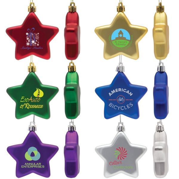 Main Product Image for Personalized Ornament Flat Star Shatter Resistant