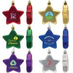 Shatter Resistant Flat Star Ornament -